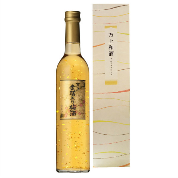 【05】万上 金箔入り梅酒 13度 500ml