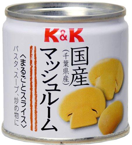 K&K 国産マッシュルーム丸ごとスライス缶 85g×6個
