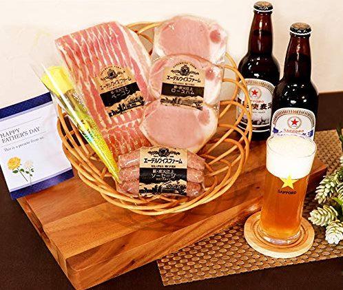 札幌開拓使麦酒セット 2種飲み比べ&熟成ハム ベーコン ソーセージ おつまみ