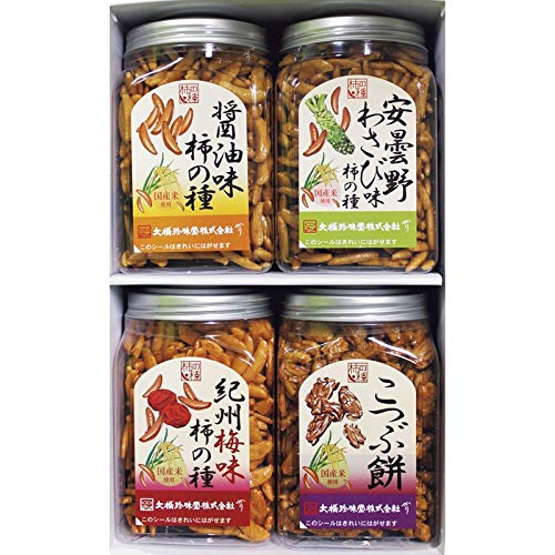 ポット柿の種 安曇野産山葵味 210g ×6個