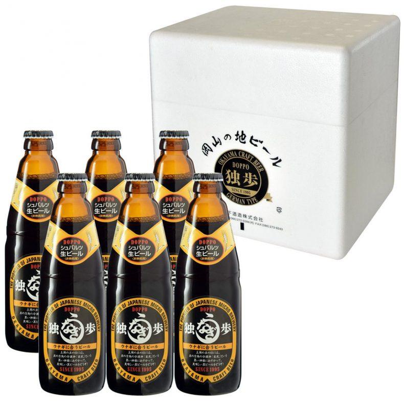 独歩 ウナギに合う黒ビール6本セット クール配送