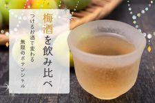 梅酒を飲み比べ!つけるお酒で変わる無限のポテンシャルを楽しもう♪