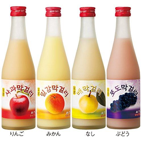 韓国 土産 草家 フルーツマッコリ4種セット