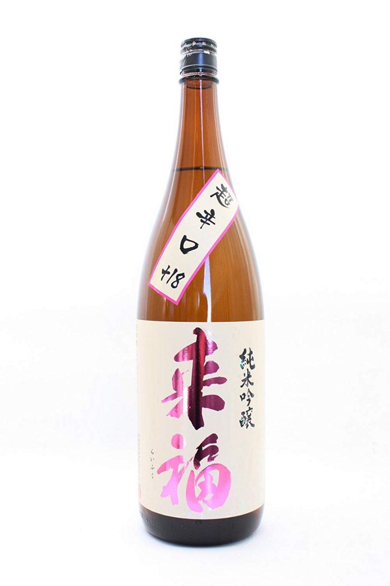 茨城県 来福酒造 来福 ( らいふく ) 純米吟醸 超辛口 1800ml