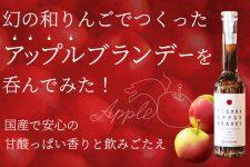幻の和りんごでつくった【いいづなアップルブランデー】国産で安心の甘酸っぱい香りと飲みごたえ